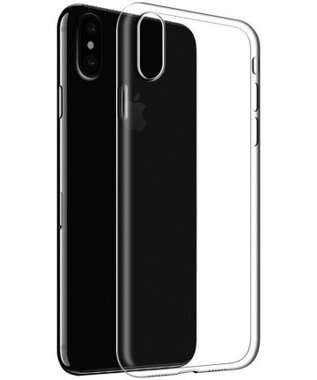 Apple iPhone X transparante case - siliconen
