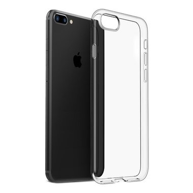 Apple iPhone 8 Plus transparante case - siliconen