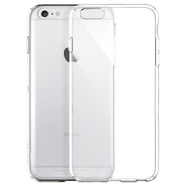 Apple iPhone 6S Plus transparante case - siliconen