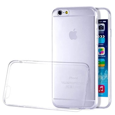 Apple iPhone 6S transparante case - siliconen